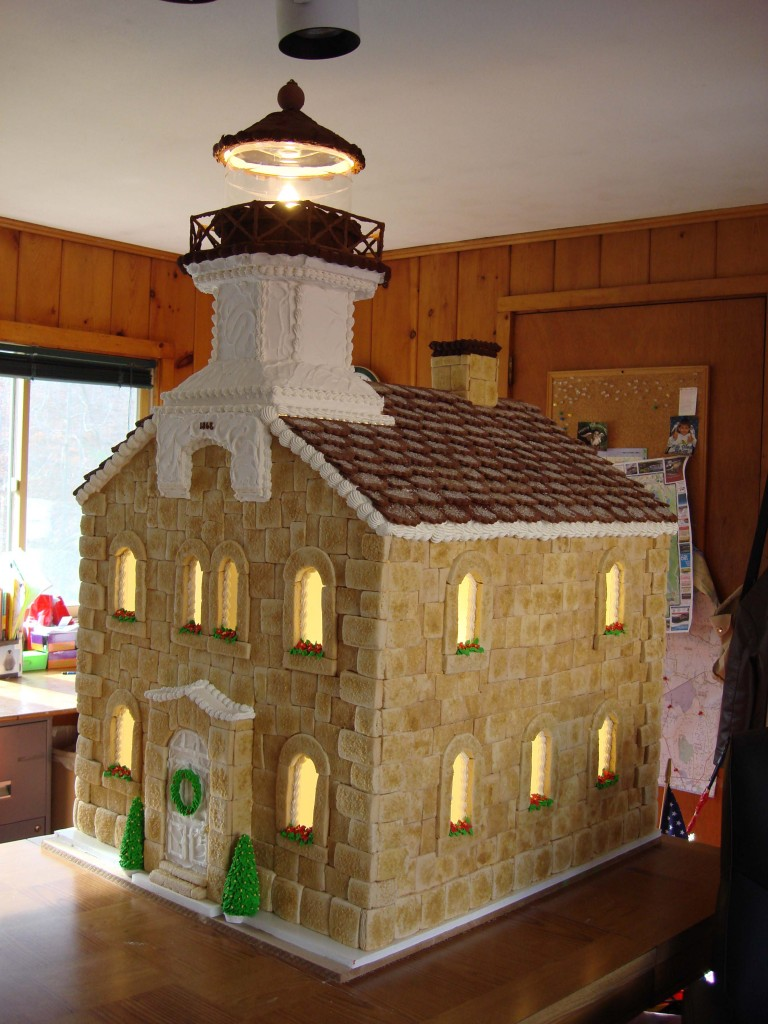 How to Make a Lighthouse out of Sugar Cookies and Icing