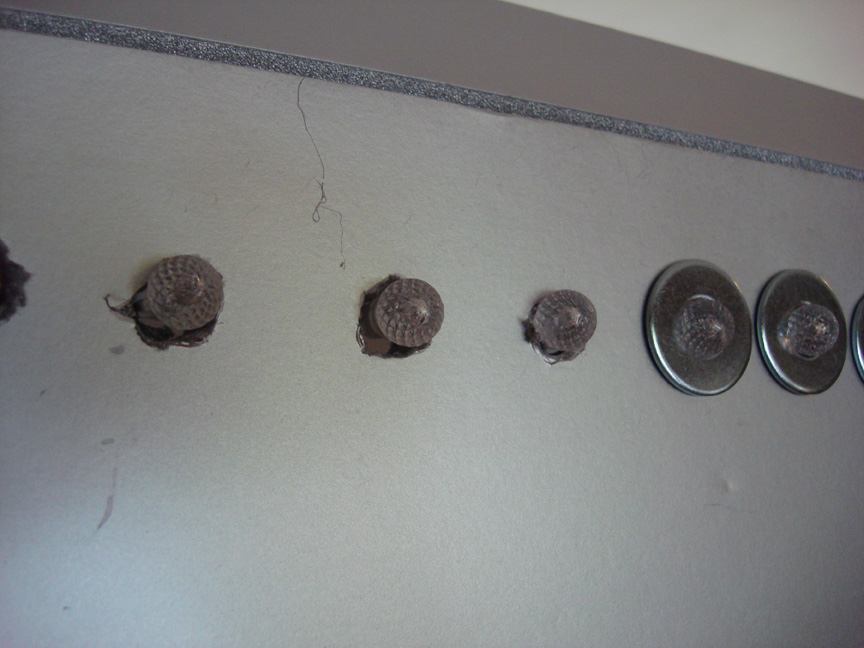 L Detail Washers Covering Drill Holes