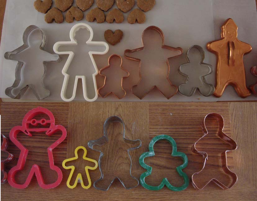B Various Men Cookie Cutters