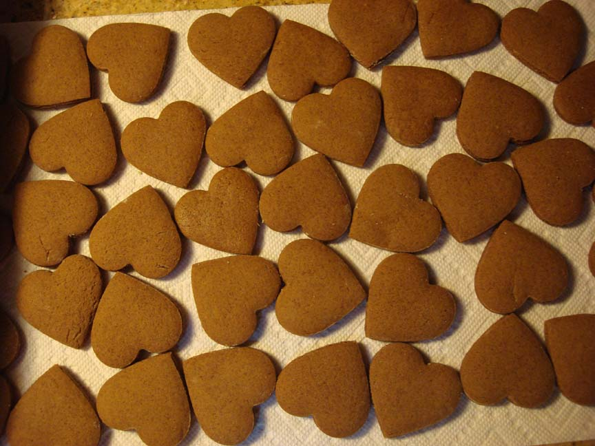 C Gingerbread Hearts