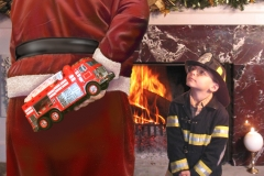 Santa with Firetruck